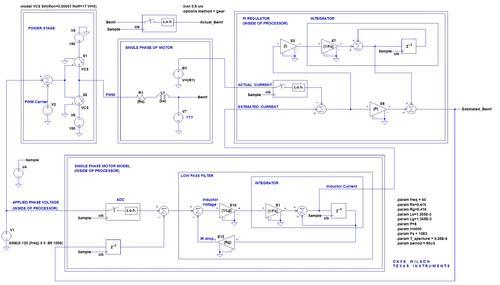 Figure 5. Spice model of back-EMF observer