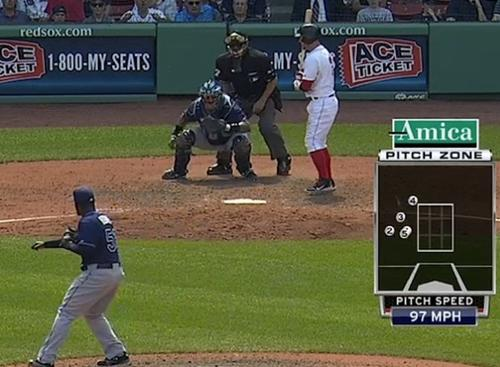 The batter struck out without the pitcher never throwing a strike.