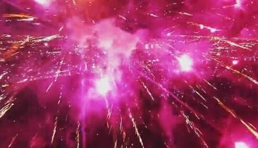 Firework Display as Seen by Drone