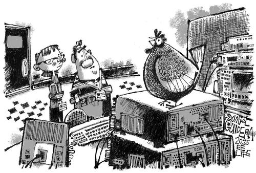 July 2015 Cartoon Caption Contest: Ain't Nobody Here but Us Chickens