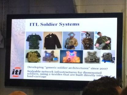 Intelligent Textiles Limited's Soldier Systems platforms.