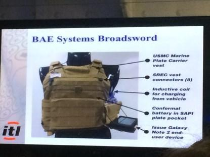 Sample project from Intelligent Textiles Limited, with BAE Systems.