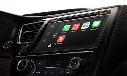 'CarPlay takes what you want to do with your iPhone while driving and puts them on your car's build-in display,' according to Apple.(Source: Apple)