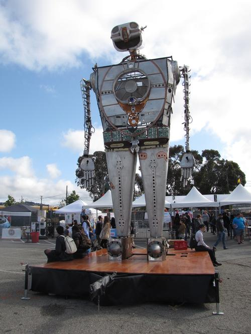 Robot Resurrection (shown above at the Maker Faire Bay Area) made an appearance at World Maker Faire 2015 in New York. (Source: EE Times)