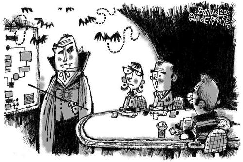 October 2015 Cartoon Caption Contest: In a different vein...