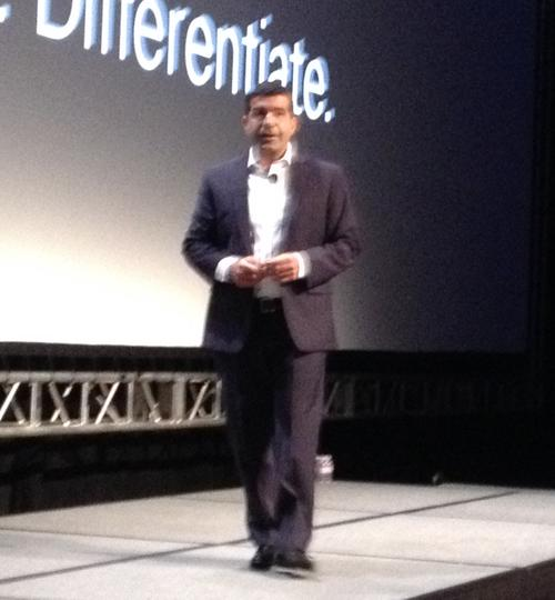 Ali Sebt, president of Renesas Electronics Americas, revealed the core elements of Synergy at the Renesas Developer's Conference. (Image: Rich Quinnell/EE Times)