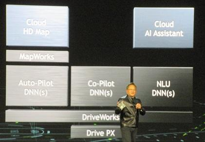 Nvidia CEO Jen-Hsun Huang during his CES keynote speech
