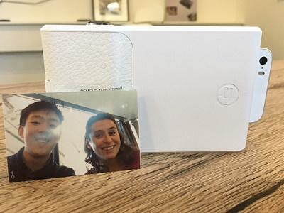 Prynt's phone case instantly prints pictures, like a Polaroid.