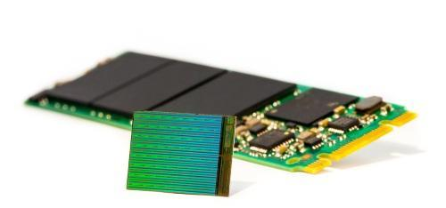 Micron has begun volume production of 256Gb MLC and 384Gb TLC 3D NAND for SSDs that can get 3.5TB into an m.2 form factor.