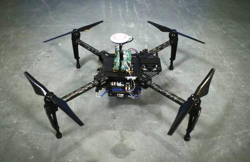 A drone prototype equipped with a fuel cell stack from Intelligent Energy.