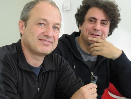 Chronocam's two co-founders: Christoph Posch(left)and Ryad Benosman