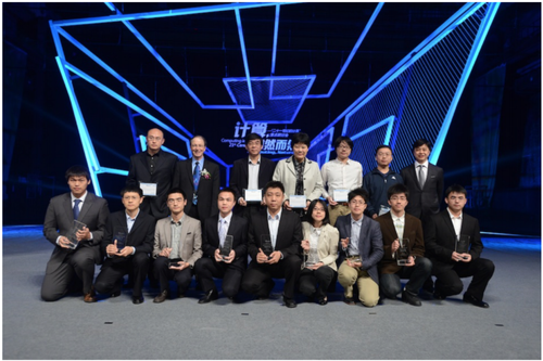 Doctoral candidate Yin-Hsi Kuo (4th, from right, the first row) was the only female among the 10 winners, and the only one from Taiwan to be awarded a Microsoft Research Asia Fellowship.