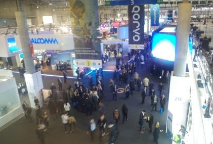 This is Hall 3, taken from the overhead walkway at the Mobile World Congress.