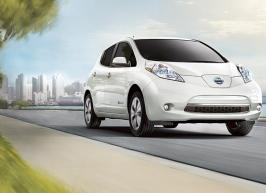Nissan Leaf (above)