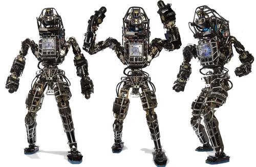 Boston Dynamics classic Atlas is a super-strong military-grade robot unlike the consumer trends toward co-robots that less intimidating and which can be safely cooperate and work alongside people without hurting them.