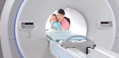 Toshiba's roughly $3.5-billion-a-year makes diagnostic impaging equipment, such as the MRI machine shown above. 