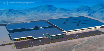 Blueprint of Faraday Future's $1 billion plant (Source: Faraday Future)