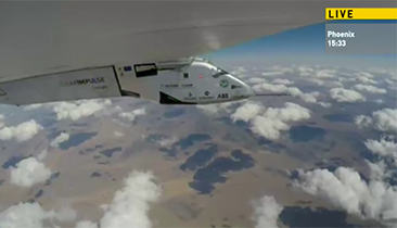 Solar Plane Takes Off on Next Leg