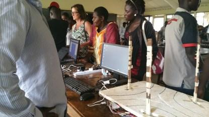 At the end of the camp, the students presented their innovations (Source: Linz Craig, Ampeire Dorah, and Jacob Odur)