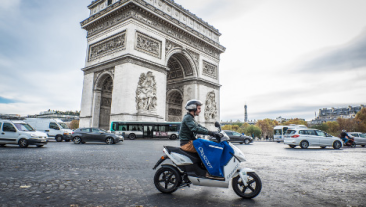 Paris on a (Connected Electric) Scooter