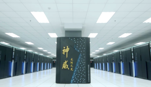 The Sunway system in Wuxi used a custom China processor to hit 93 petaflops/s. (Image: Top500)
