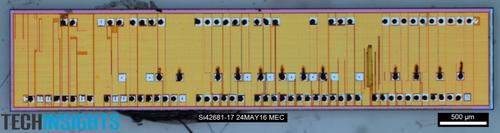 Figure 3. F-Chip die removed from Samsung 48L 3D V-NAND MCP (Source:    TechInsights)