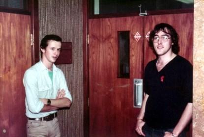 Joe Murray (left) and Max (right) circa 1982 (Source: Max Maxfield)