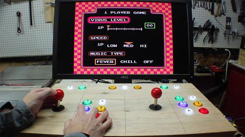 Bob Clagett used his Raspberry Pi Model B+ and RetroPi to build his retro arcade machine. (Source and Pic: http://www.iliketomakestuff.com/raspberry-pi-arcade-part-1/)