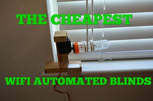 It may not be pretty but BRUH Automation's DIY IoT Automated Blinds are both functional and affordable. (Source: https://www.youtube.com/watch?v=8bcYB-0bctE) (Pic: https://i.ytimg.com/vi/8bcYB-0bctE/maxresdefault.jpg)
