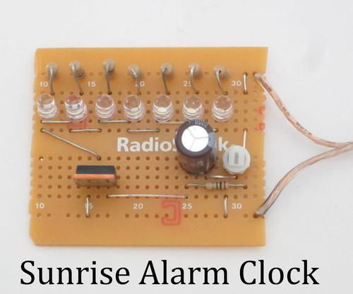Jason Poel Smith's Sunrise Alarm Clock eschews modern smart bulbs in favor small LEDs to provide the effect of sunlight. (Source/Pic: http://www.instructables.com/id/Sunrise-Alarm-Clock-1/?ALLSTEPS)