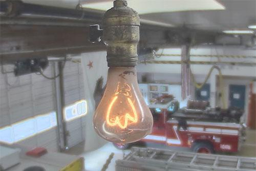 The world's longest-lasting light bulb is maintained by the Livermore-Pleasanton Fire Department in California. Source: Centennial Light Bulb site