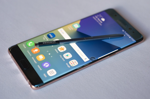 The Samsung Galaxy Note 7 smartphone received favorable reviews, but has been pulled off the market due to documented cases of battery flaming and worse.