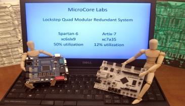 Rad-Tolerant Lockstep Quad Core 8051 Uses Only 12% of FPGA