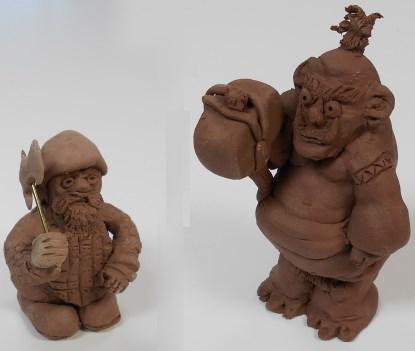 Bob's preliminary dwarf and troll sculptures (Source: Max Maxfield)
