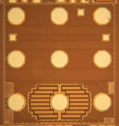 Bottom View of Cavendish  Kinetics Tuner showing MEMS Array