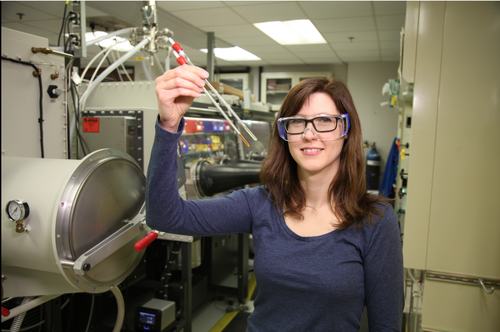 Pacific Northwest National Laboratory chemist Molly O'Hagan explores different catalysts inspired by nature, looking for one that runs fast and efficiently to convert water to hydrogen fuel.