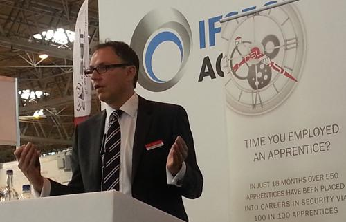 Simon Banks, managing director for CSL Communications Group, launches 100 in 100 2013 at IFSEC International