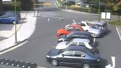 Video: CCTV Fails to Capture Reckless Driver