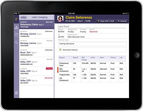 Athenahealth's iPad 'inbox buster'