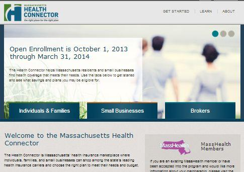 Health Connector, the Massachusetts health insurance exchange site.