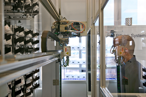 UCSF Medical Center is using 'a family of giant robots' to dispense medication from its pharmacy. When the system debuted in 2011, it made no errors in 350,000 doses of medication. Beat that, human.