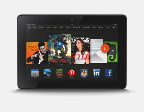 Kindle Fire HDX with 8.9-inch screen.
