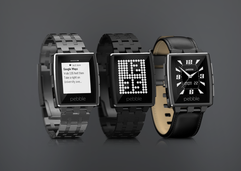 The Pebble Steel -- available in brushed and matte black -- is the new stainless steel version of Pebble's plastic smartwatch.(Source: Pebble)