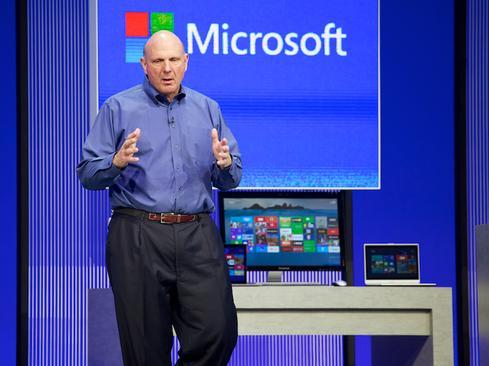 Outgoing Microsoft CEO Steve Ballmer