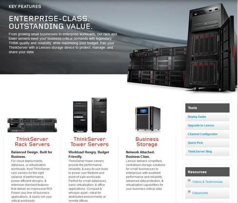Lenovo's enterprise-class server business is about to expand.