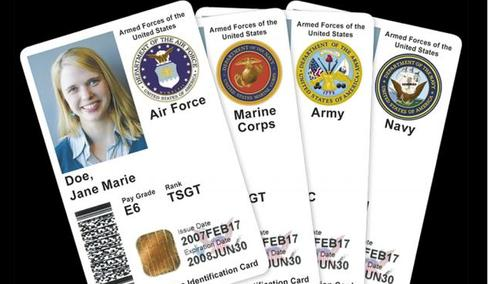 Two-factor identification cards, like those used by the Defense Department, still haven't become widely used by civilian agencies. (Source: DoD)