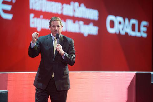 Oracle president Mark Hurd speaks at Oracle OpenWorld 2013.(Image: Oracle)