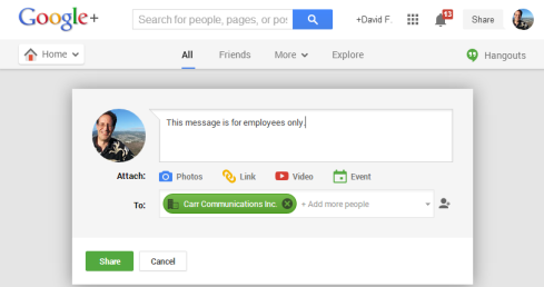 Google+, plus Google Apps.