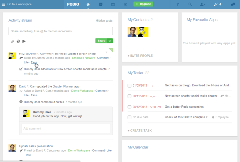 Organizing small business tasks is one of Podio's strengths.
