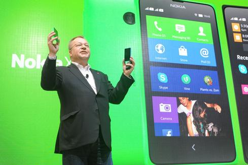 Nokia CEO Stephen Elop introduces the Android-based Nokia X platform at Mobile World Congress. (Source: Nokia)